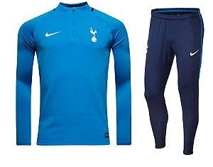 Kit treinamento oficial Nike Tottenham 2017 2018 Azul