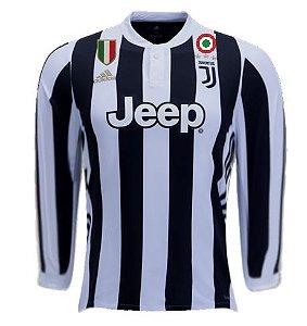 Camisa oficial Adidas Juventus 2017 2018 I jogador manga comprida