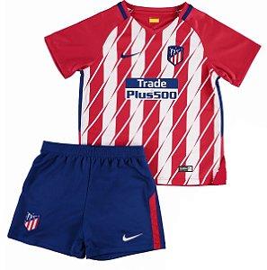 Kit oficial infantil Nike Atletico de Madrid 2017 2018 I jogador