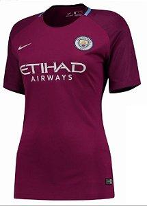 Camisa feminina oficial Nike Manchester City 2017 2018 II