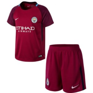 Kit oficial infantil Nike Manchester City 2017 2018 II jogador
