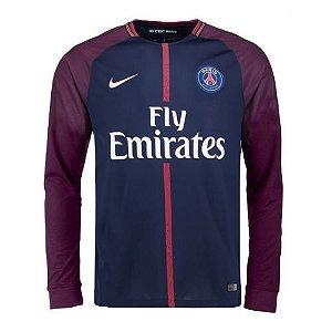 Camisa oficial Nike PSG 2017 2018 I jogador manga comprida