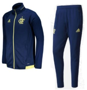 Kit treinamento oficial Adidas Flamengo 2017 azul