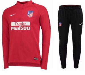 Kit pre jogo oficial Nike Atletico de Madrid 2017 2018 vermelho