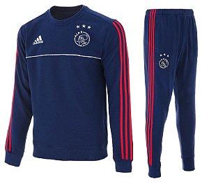 Kit pre jogo oficial Adidas Ajax 2017 2018 azul