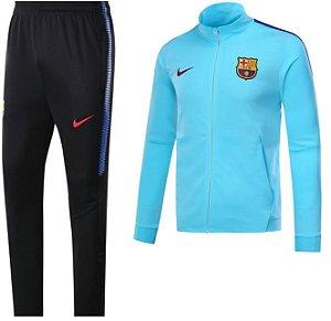 Kit treinamento oficial Nike Barcelona 2017 2018 Azul e preto