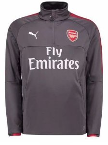 Blusão pre jogo oficial Puma Arsenal 2017 2018 Cinza