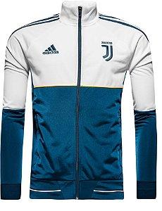 Jaqueta oficial Adidas Juventus 2017 2018 Azul e Branca