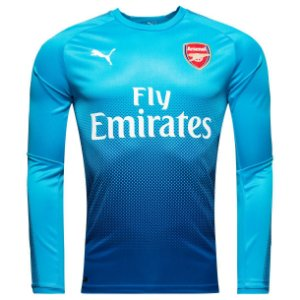Camisa oficial Puma Arsenal 2017 2018 II jogador manga comprida