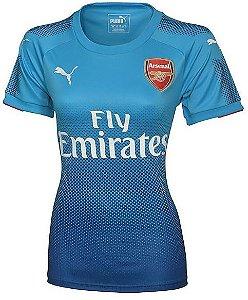 Camisa feminina oficial Puma Arsenal 2017 2018 II