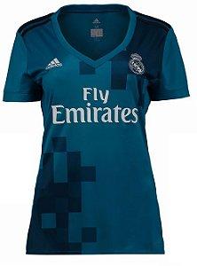 Camisa feminina oficial Real Madrid 2017 2018 III