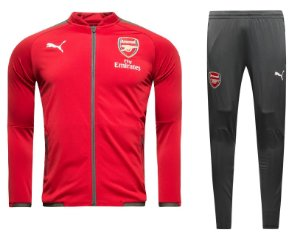 Kit treinamento oficial Puma Arsenal 2017 2018 vermelho