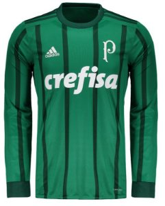Camisa oficial Adidas Palmeiras 2017 I jogador manga comprida