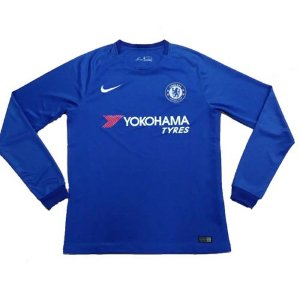 Camisa oficial Nike Chelsea 2017 2018 I jogador manga comprida