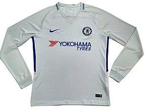 Camisa oficial Nike Chelsea 2017 2018 II jogador manga comprida