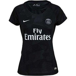 Camisa feminina oficial Nike PSG 2017 2018 III