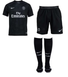 Kit adulto oficial Nike PSG 2017 2018 III jogador