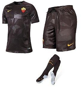 Kit adulto oficial Nike Roma 2017 2018 III jogador
