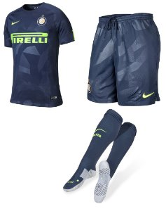 Kit adulto oficial Nike Inter de Milão 2017 2018 III jogador
