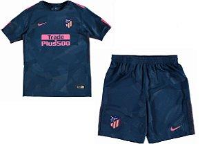 Kit infantil oficial Nike Atletico de Madrid 2017 2018 III jogador