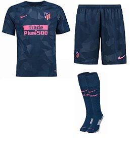 Kit adulto oficial Nike Atletico de Madrid 2017 2018 III jogador