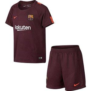 Kit infantil oficial Nike Barcelona 2017 2018 III jogador