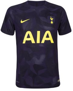 Camisa oficial Nike Tottenham 2017 2018 III jogador