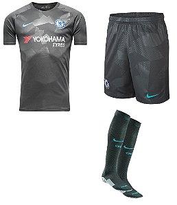 Kit adulto oficial Nike Chelsea 2017 2018 III jogador