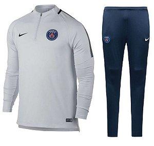 Kit treinamento oficial Nike PSG 2017 2018 branco e azul