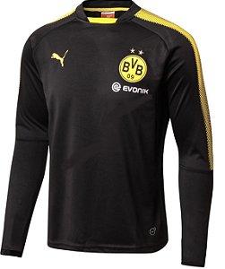Blusão de treino oficial Puma Borussia Dortmund 2017 2018 Preto