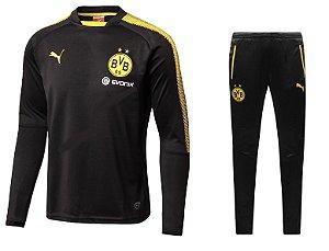 Kit pre jogo oficial Puma Borussia Dortmund 2017 2018 Preto
