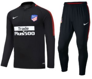 Kit pre jogo oficial Nike Atletico de Madrid 2017 2018 Preto