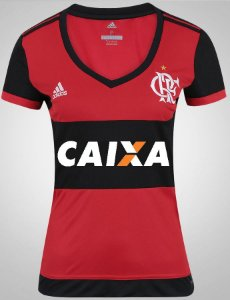 Camisa feminina oficial Adidas Flamengo 2017 I