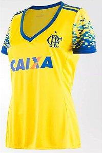 Camisa feminina oficial Adidas Flamengo 2017 III