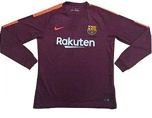 Camisa oficial Nike Barcelona 2017 2018 III jogador manga comprida