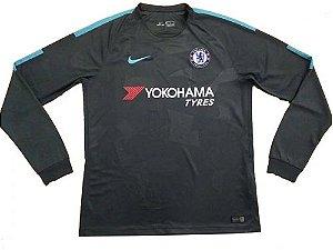 Camisa oficial Adidas Chelsea 2017 2018 III jogador manga comprida