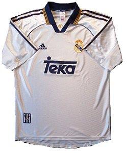 Camisa retro Adidas Real Madrid 1998 1999 I jogador