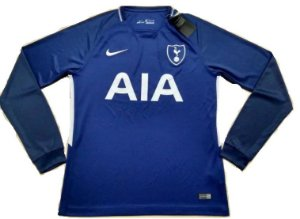 Camisa oficial Nike Tottenham 2017 2018 II jogador manga comprida