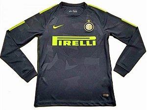 Camisa oficial Nike Inter de Milão 2017 2018 III jogador manga comprida