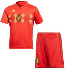 Kit infantil oficial Adidas seleção da Belgica 2018 I jogador