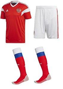 Kit adulto oficial Adidas seleção da Russia 2018 I jogador