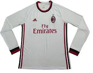 Camisa oficial Adidas Milan 2017 2018 II jogador manga comprida