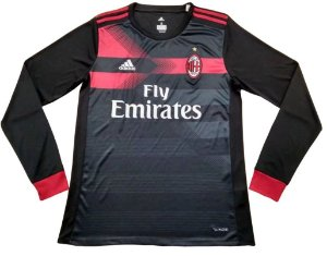 Camisa oficial Adidas Milan 2017 2018 III jogador manga comprida