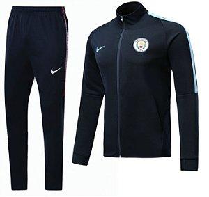 Kit treinamento oficial Nike Manchester City 2017 2018 Preto