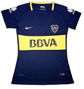 Camisa feminina oficial Nike Boca Juniors 2017 2018 I