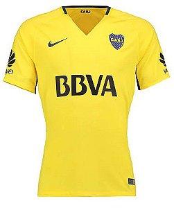 Camisa feminina oficial Nike Boca Juniors 2017 2018 II