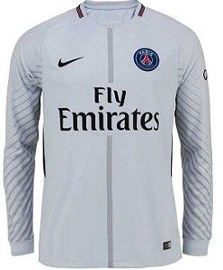 Camisa oficial Nike PSG 2017 2018 I goleiro manga comprida