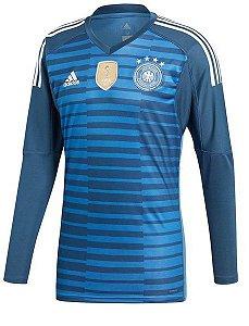 Camisa oficial Adidas seleção da Alemanha 2018 I goleiro manga comprida