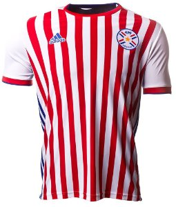 Camisa oficial Adidas seleção do Paraguai 2018 I jogador