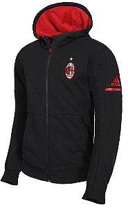 Jaqueta com capuz oficial Adidas Milan 2017 2018 Preta